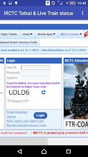 IRCTC Tatkal & Live Status screenshot
