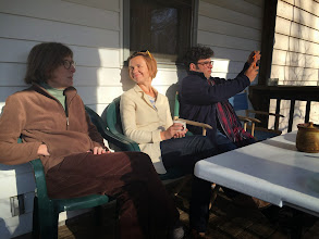 Photo: Atar Trio - View from Mt Nebo - USA Tour 2015 - Relaxing before the concert on the back porch of our dear hosts, Charlotsville, Virginia