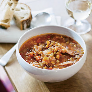 Lentil Soup with Smoked Turkey.