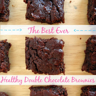 The Best Ever Healthy Double Chocolate Brownies.