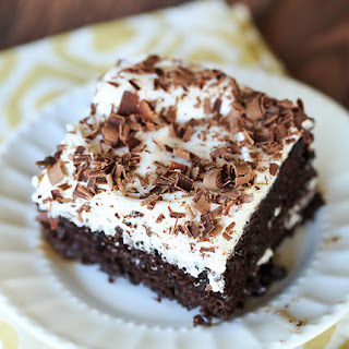 Chocolate Mudslide Poke Cake
