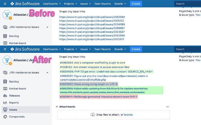 Drupal Issue Chrome