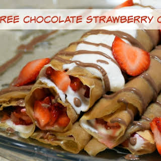 Guilt Free Chocolate Strawberry Desert Crepes.