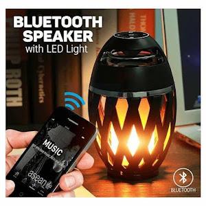 Boxa Bluetoth Stereo cu aspect de felinar cu flacara LED