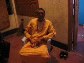 "Photo: Swami Mahanandaji, Second Incharge, Bharat Sevasharm Sangha, Rashbehari Avenue, Kolkata in ""Sadhu Nibas"", 3rd Floor at Bajitpur Pranav Math on February 5, 2009 (the before Maghi Purnima 1415)"