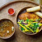 [L] Fried Fish & Mango Salad
