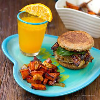 Mushroom Melt Breakfast Sandwich