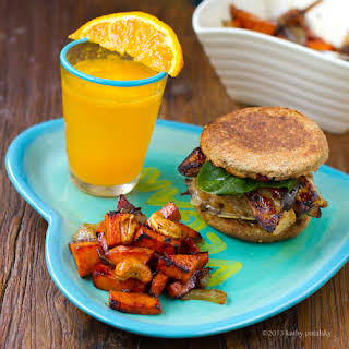 Mushroom Melt Breakfast Sandwich.