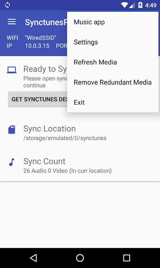 Sync iTunes to android - Pro- screenshot