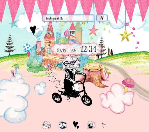 Cat in Wonderland-かわいい壁紙・アイコン-