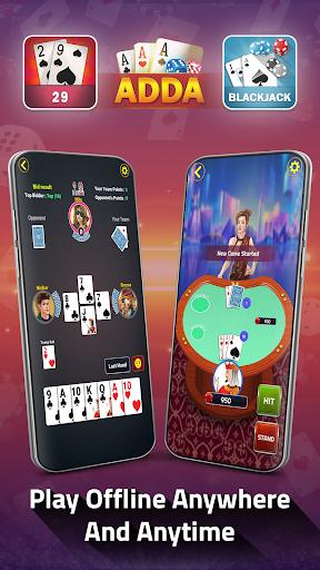 Adda : Rummy , Callbreak ,Solitaire & 29 Card Game modavailable screenshots 6