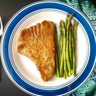 Grilled Lemon Tuna Steak and Asparagus (paleo, GF).
