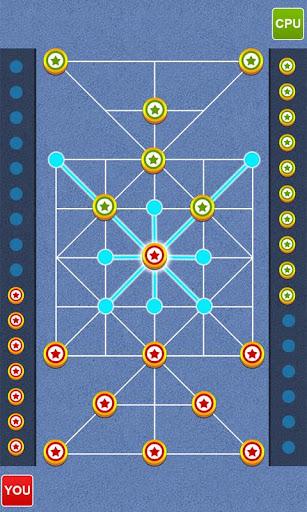 Bead 16 - Tiger Trap ( sholo guti ) Board Game ud83eudde0 1.05 screenshots 5