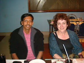 Photo: Elaine and I, at the Dinner table