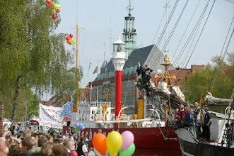 Photo: Einlaufen eines Segelschiffs in den Ratsdelft Fotograf: Karl-Heinz Krämer