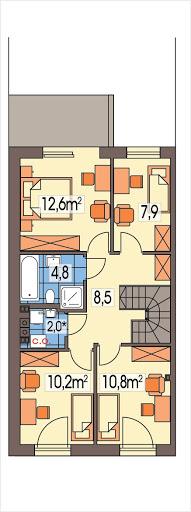 Katrina segment lewy - Rzut piętra