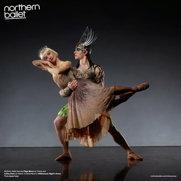 Photo: Northern Ballet dancers Pippa Moore as Titania and Ashley Dixon as Oberon in David Nixon's A Midsummer Night's Dream. Photo Jason Tozer.