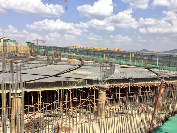 Ongoing construction at Konza