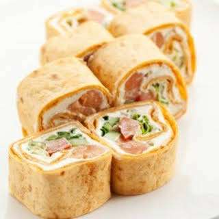 Salmon Tortilla Appetizers.
