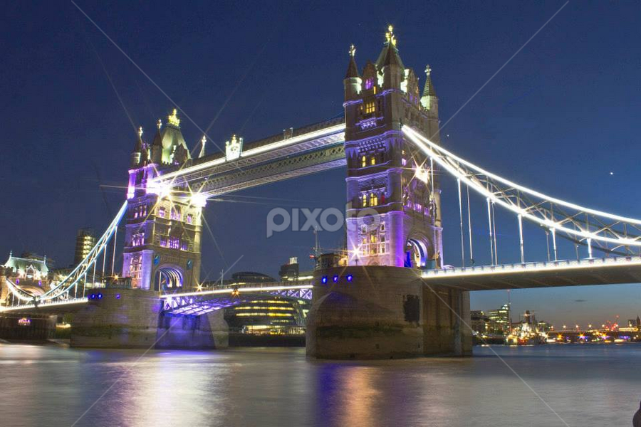 by Mike Ross - Buildings & Architecture Bridges & Suspended Structures ( city at night, street at night, park at night, nightlife, night life, nighttime in the city,  )