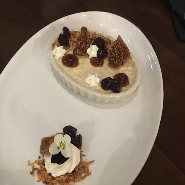 Cauliflower rice pudding