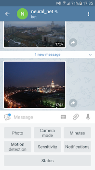 Telephoto - CCTV via Telegram