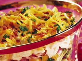 Seven-layer Holiday Pasta Salad Recipe