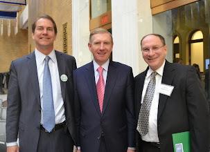 Photo: Foley Hoag Co-Managing Partner William Kolb, BBA President Paul Dacier, and Supreme Judicial Court Justice Ralph Gants.