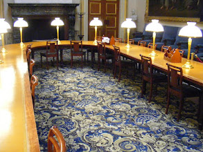 Photo: Now in the Conference Room, which serves as both a meeting place and reading room for Assembly members.