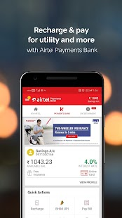 My Airtel-Recharge, Pay Bills, Bank & Avail Offers Screenshot