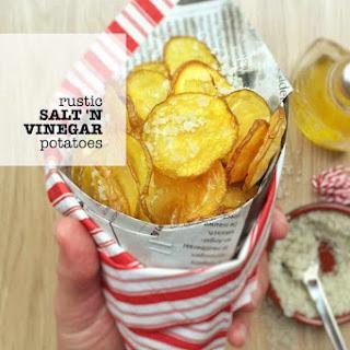 Rustic Salt And Vinegar Potatoes.