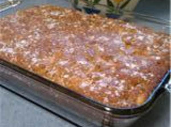 Chipped Apple Cake With Cream Cheese Topping Recipe