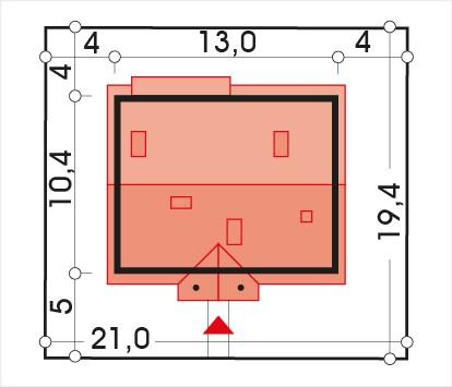 Sielanka 2 100 MDM wersja A - Sytuacja