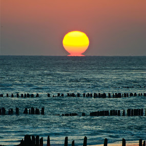 atomic .....sun by Argirios Kostaras - Landscapes Sunsets & Sunrises ( relax, tranquil, relaxing, tranquility )