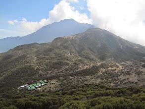 Photo: Saddle Hut and Meru from Little Meru