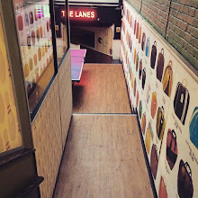 Photo: Very retro bowling alley in London, the same one I found Famous Rays pizza too, it was like an episode of Laverne and Shirley up in there!