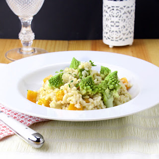 Romanesco, Goat Cheese & Butternut Squash Risotto.