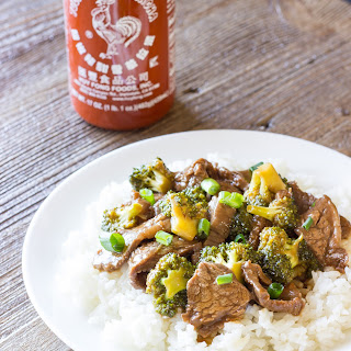Honey Sriracha Beef and Broccoli