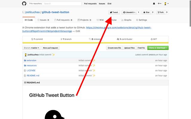 GitHub Tweet Button