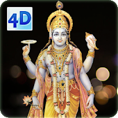 4D Lord Vishnu Live Wallpaper