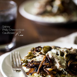 Cauliflower Rice Philly Cheese Steak