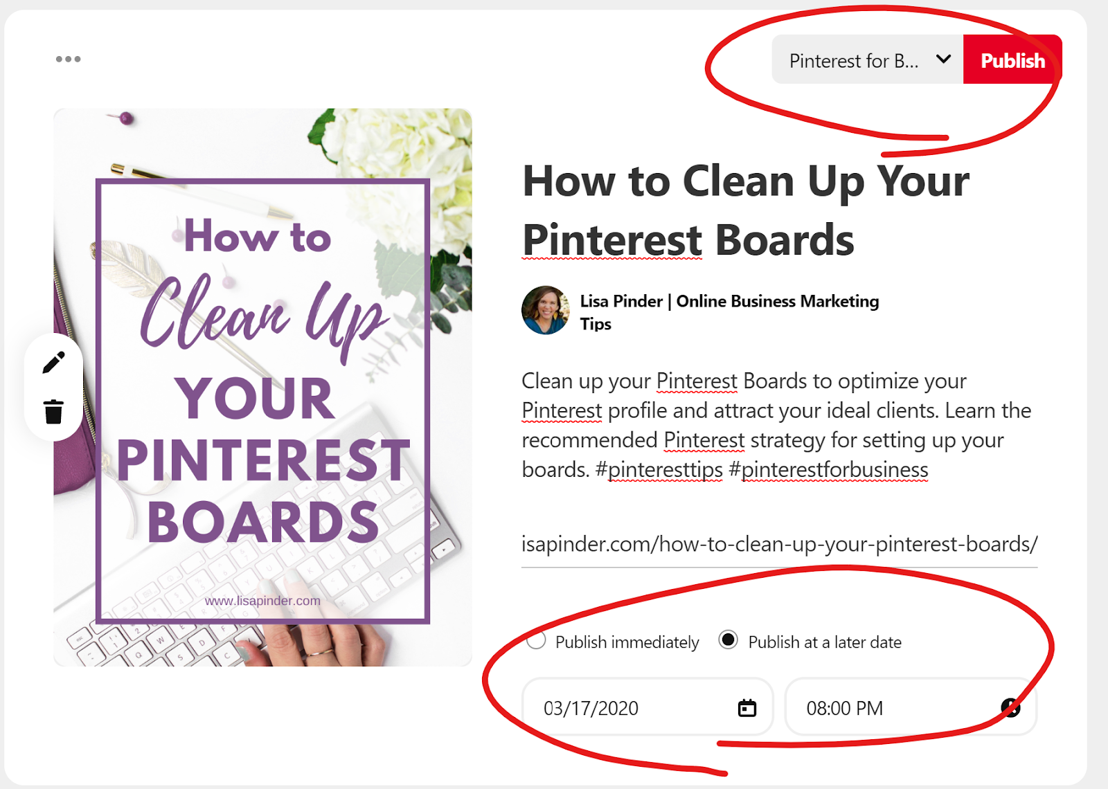 How to Schedule Pins on Pinterest for a later date