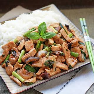 Thai Chicken Basil Stir-Fry.