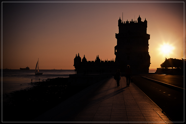 Tramonto sulla torre di Belém di Frisonfotografia