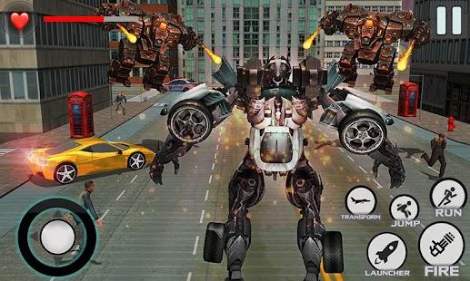 Flying Super Hero Jet Robot Alien Super Transform - náhled