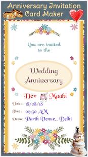 Anniversary invitation card maker apps on google play screenshot image stopboris Images