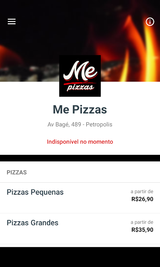 Me Pizzas Delivery- screenshot