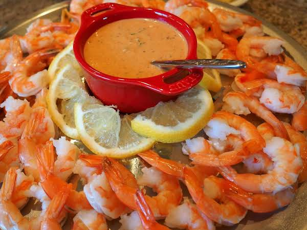Shrimp Platter With Remoulade Sauce Is The Perfect Elegant Start To Any Special Occasion.