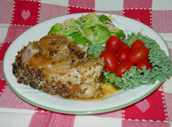 Pam's Mustard And Herb Crusted Stuffed Pork Loin Recipe
