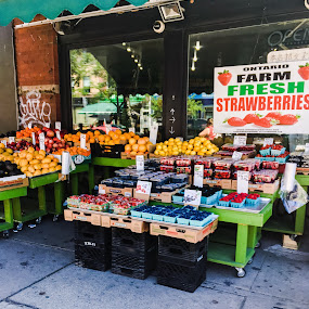 Corner food market by Jillynn Markle - City,  Street & Park  Markets & Shops ( urban, market, store, street, fruits, vegetables )